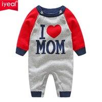Mamelucos de bebé IYEAL recién nacido chico bebé niñas carta patrón tejido Romper de manga larga otoño mono traje ropa infantil