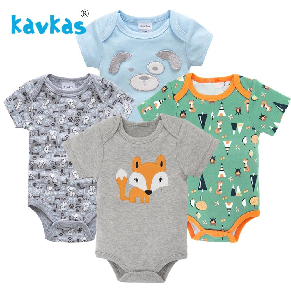 Kavkas/Пижама для младенцев 4 шт./компл. короткий рукав новорожденных Пижама для маленьких мальчиков/младенцев Одежда для маленьких мальчиков bossa nova - Цвет: HY20802163