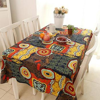 National Wind Cotton Tablecloth Exotic Linen Tablecloth Rectangular Anti-Dirty Coffee Table Cloth coffee table
