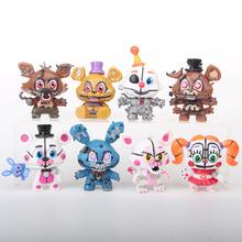 8 sztuk zestaw najnowszy FNAF pięć nocy w Freddys Freddy zabawki Bonnie Foxy Fazbear niedźwiedź Action Figures Party prezenty chłopcy zabawka na boże narodzenie tanie tanio 6 lat Dorośli 14 lat 12-15 lat 5-7 lat 8 lat 3 lat 8-11 lat Model Wyroby gotowe Love·Thank you Zachodnia animiation