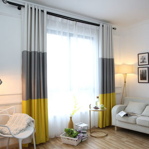 Image 4 - 3 Colors Striped Blackout Curtains for the Bedroom Cotton Linen Modern Curtains for Living Room Window Curtains Blinds