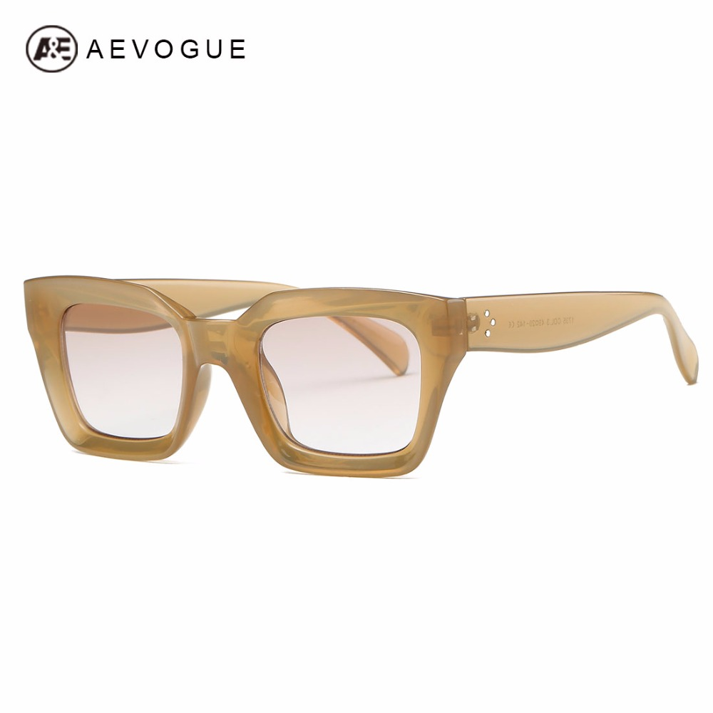 AEVOGUE Sunglasses Women Brand Designer 3D Stereoscopic Rectangle Frame Fashion Sun Glasses UV400 AE0551