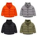 Ropa de los niños 2015 hijo varón wadded chaqueta chaqueta de algodón acolchado niña chaqueta de algodón acolchado niño cuello alto bebé