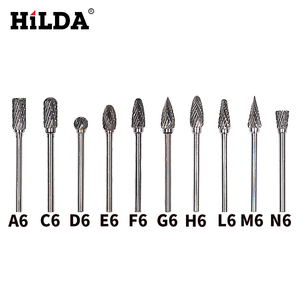Image 1 - HILDA 10Pcsทังสเตนคาร์ไบด์Bursชุดมินิสว่านโรตารี่อุปกรณ์เสริมDremelเจาะBurrsทังสเตนSharpeningเจาะBits