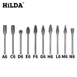 Image 1 - Hilda 10 Stuks Tungsten Carbide Burs Sets Rotary Mini Boor Accessoires Dremel Boor Slijpen Bramen Wolfraam Slijpen Boren
