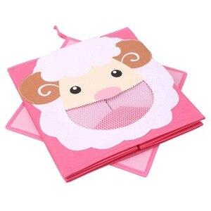 Новый складной нетканые детские игрушки для хранения ящик-3D мультфильм животных детские игрушки груди и Органайзер книга одежда коробки