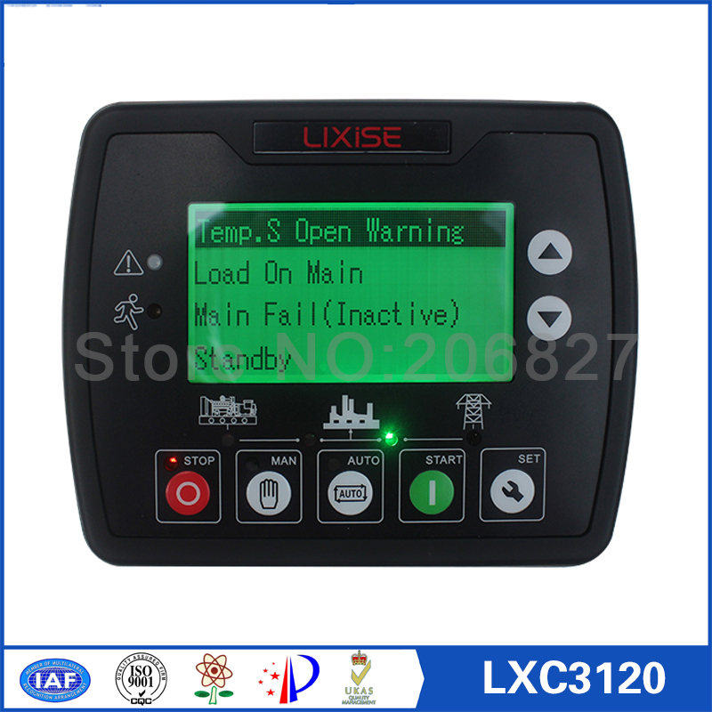 Diesel engine generator controller LXC3120 Completely replaced dse4520 diesel generator auto start control free shipping dse7220 engine generator controller module auto start control suit for any diesel generator