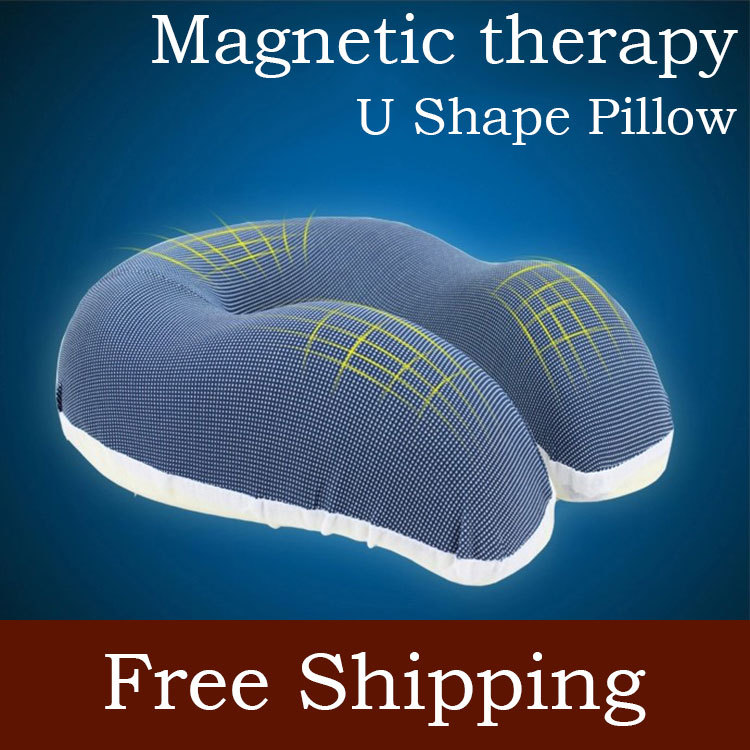 2014 New Almofada De Pescoco Travel U Shape Neck Pillow To Sleep High Quantity Magnetic Therapy Airplane Headrest Free Shipping image
