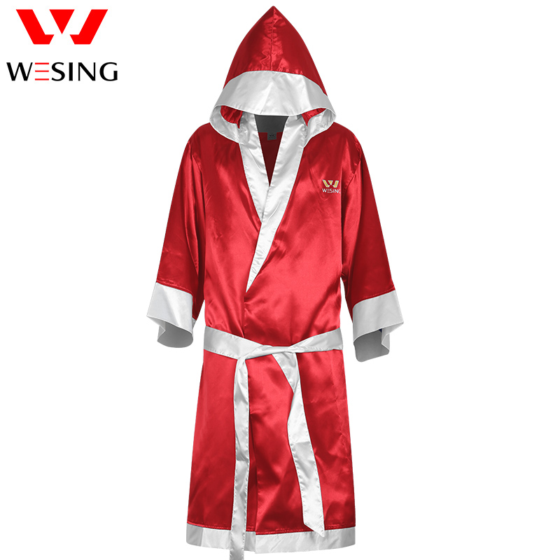 Wesing Boxing Robe with Hood Robe Boxing Cloak Red Blue
