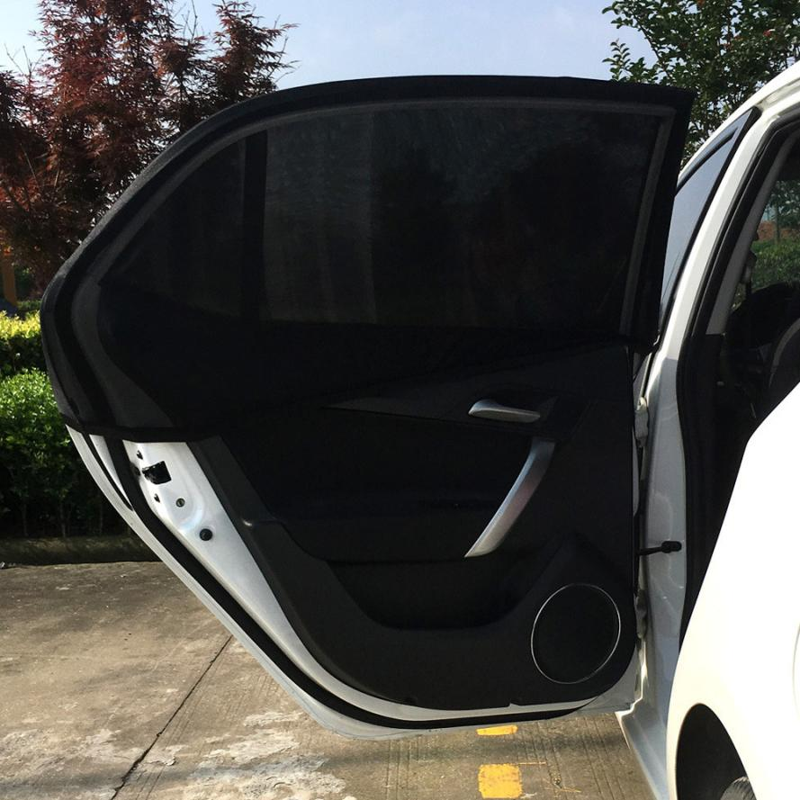 Car-styling AUTO 2x Car Rear Window UV Mesh Sun Shades Blind Kids Children Sunshade Blocker Black HOT