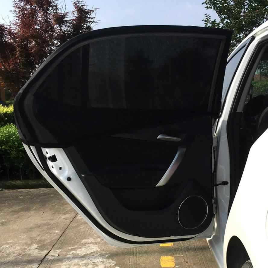 Car-styling AUTO 2x Car Rear Window UV Mesh Sun Shades Blind Kids Children Sunshade Blocker Black HOT