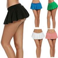 Fashion Brand Newest Women Micro Mini Bodycon Dance Party Clubwear Skirt Metallic PU Leather Solid Sexy Hot Skirts