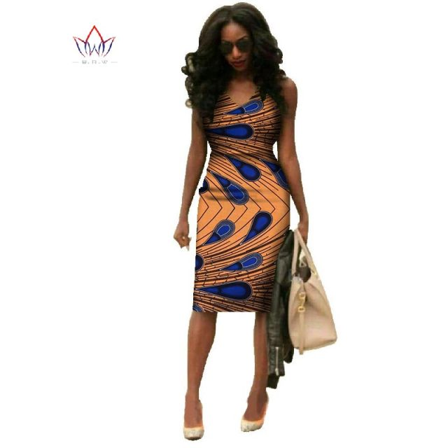 Vestidos 2018 African Dresses For Women Dashiki Plus Size Fashion African Wax Print Dresses Bazin Riche Africa Dresses WY237 4