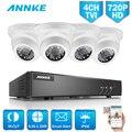 ANNKE HD 4CH 5in1 sistema CCTV 720 P DVR 4 piezas 1200TVL al aire libre impermeable inteligente IR Cámara sistema 4ch video de vigilancia Kit