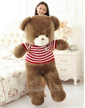 huge red stripes clothes teddy bear toy big sweater teddy bear toy bear doll gift doll about 140cm