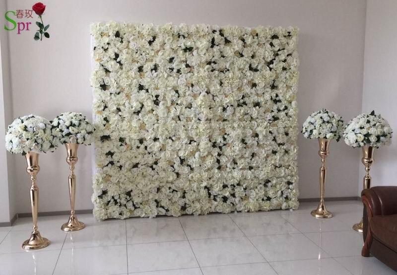 SPR Бесплатная доставка penoy гортензии розы стены свадьба фон искусственный цветок столбец арки вечерние декоративные цветочные