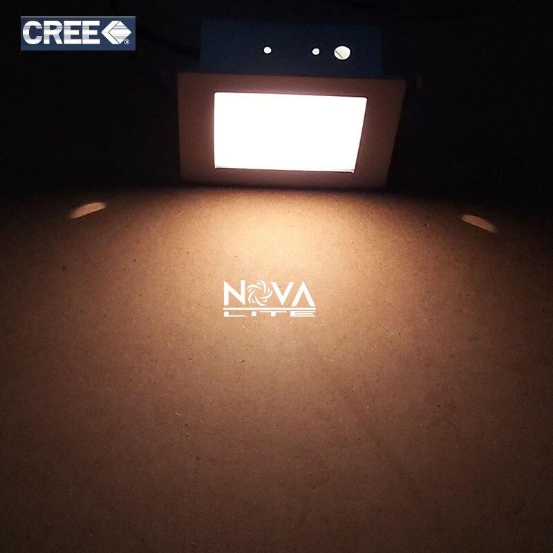 6 шт. AC100V до 240 В 1 Вт 3 Вт серебристо-серый штампованной стали квадратный рассеянный встраиваемые лестница светодиодного освещения