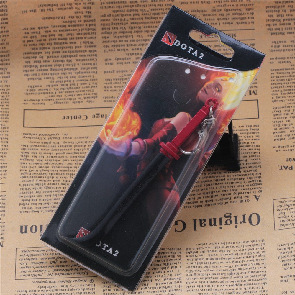 US $2 9  Game Defense Of The Ancients Dota2 Juggernaut Kantusa the Script  Sword Keychains For Jugg Dota 2 Chain Key Holder Size 12 5cm-in Key Chains