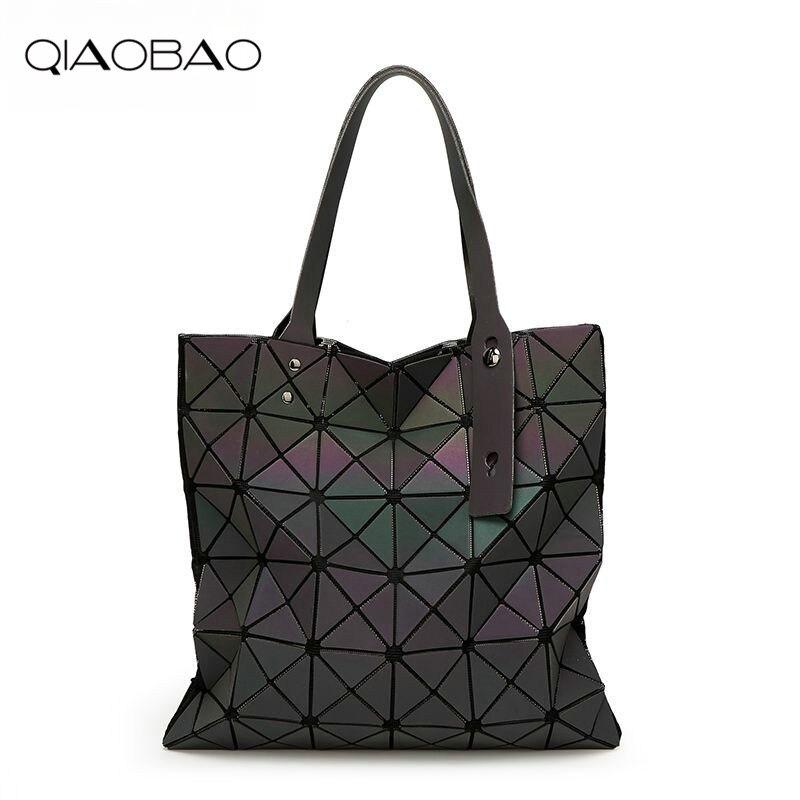 QIAOBAO Laser Luminous Bag Luxury Handbags Women Bags Designer Bolsas Victor Hugo Obag K ...
