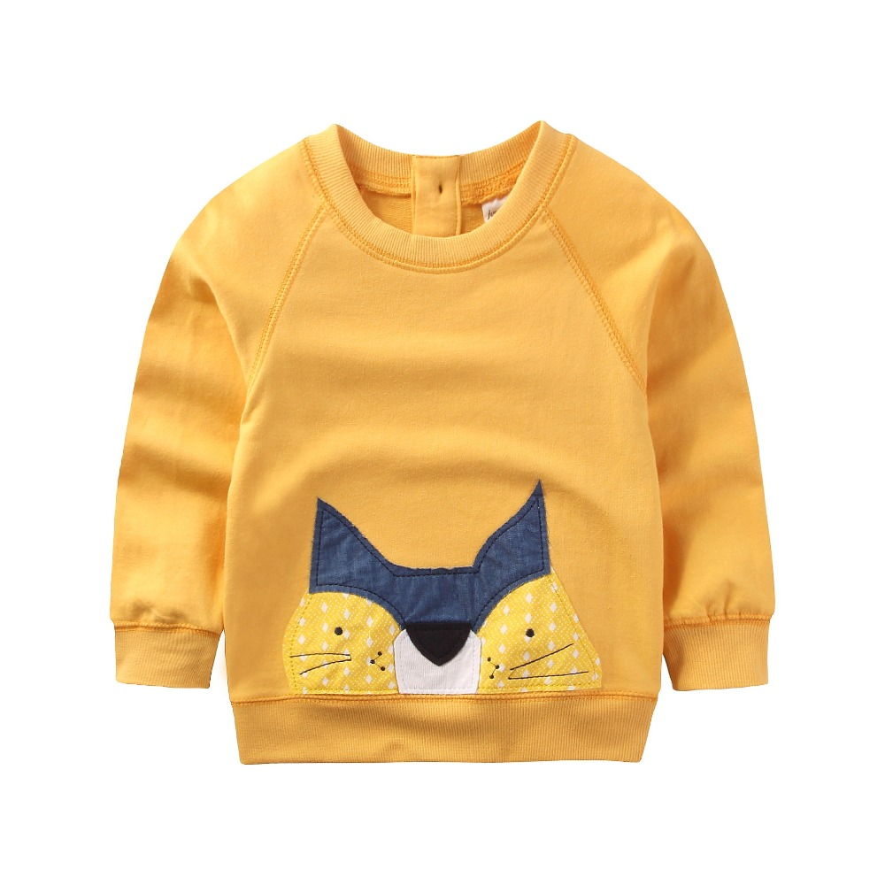 2017 New arrivals Boys Cotton casual Sweaters Brand Baby Boys clothes Children Kids animal Sweatshirts for Hoodies Boys 2-7Y