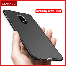 MAKAVO For Samsung Galaxy J5 2017 Case Hard 360 Slim Matte Back Cover Phone Cases For