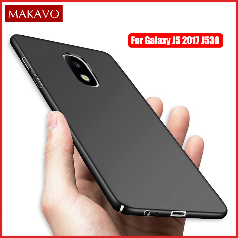 MAKAVO Housing For Samsung Galaxy J5 2017 Case 360 Slim Matte Hard Back Cover Phone Cases For Samsung J5 2017 J530F Pro
