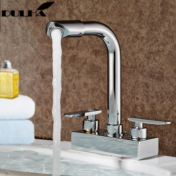 Bathroom Basin Faucet  And Kitchen VesselsMixer Tap Sink Hot Cold Water Taps 360 Degree Swivel Rotate Faucets Free Shipping цена 2017