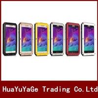 Cajas del teléfono Cubierta de Metal de Gran Alcance Para Galacy S5 I9600 de la Suciedad de Aluminio A Prueba de agua A Prueba de Golpes para Samsung Galaxy S4 S5 I9600