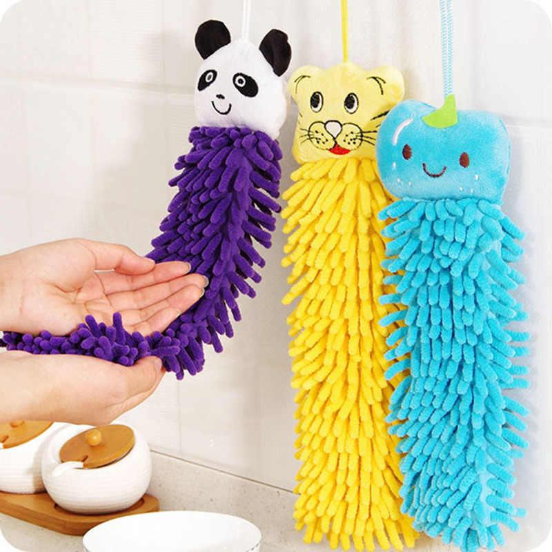 Dla niemowląt ręcznik ręczniki dla niemowląt dziecko pluszowe miękkie pluszowe kreskówki zwierzęta czyste wisiorek ręcznik kąpielowy dla dzieci, łazienka ręczniki
