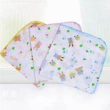 5PCS Baby Feeding Towel lovely cartoon animals Printed Children Small Handkerchief Gauze Towels Nursing Towel free shipping