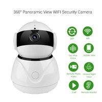 WiFi Wireless Fish Eye IP Camera HD 1080P Video Security Panoramic 360 Degree Webcam Home Intercom Two Way Audio Baby Monitor