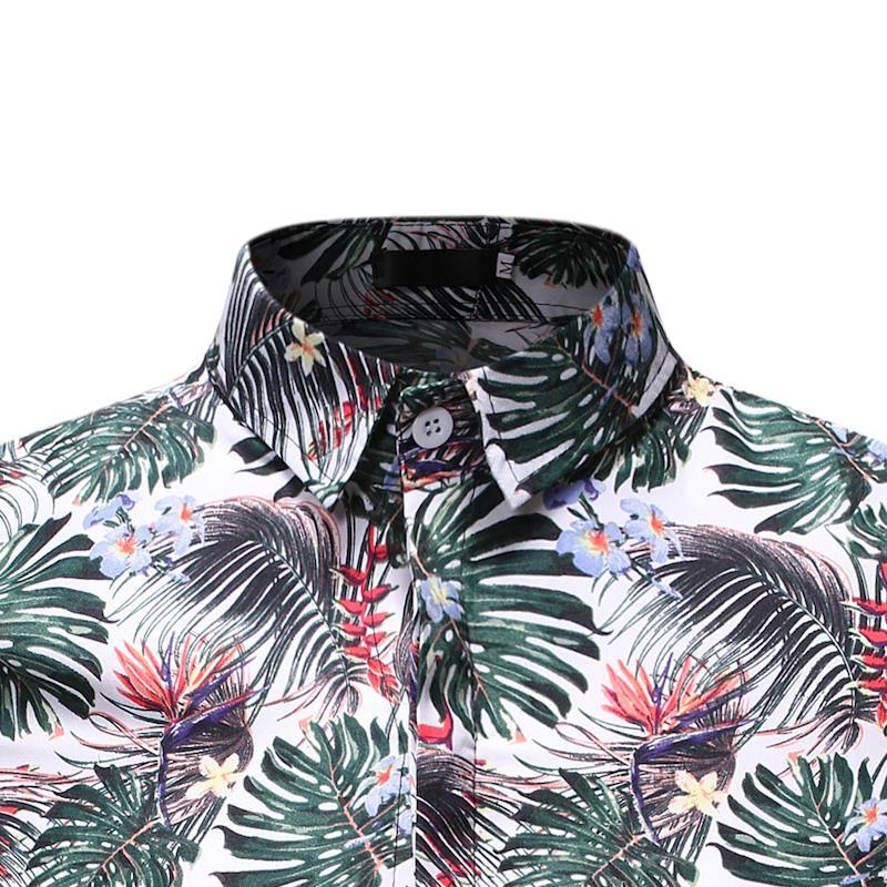 Social Shirt For Men Dress Short Sleeve Men's Casual Floral Shirt Stay Summer Blouse Men Hawaiian Style Casual Beach
