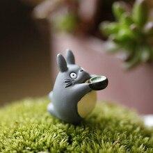 Hot Selling 1pcs Miyazaki My Neighbor Totoro Toys Drink Tea Micro Landscape Gardening Potted Decoration Action Figure Toys