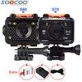 Original soocoo s70 s60 s60b wifi acción del deporte cámara de vídeo de control remoto + extra 1 unids batería + cargador de batería + cable a prueba de agua
