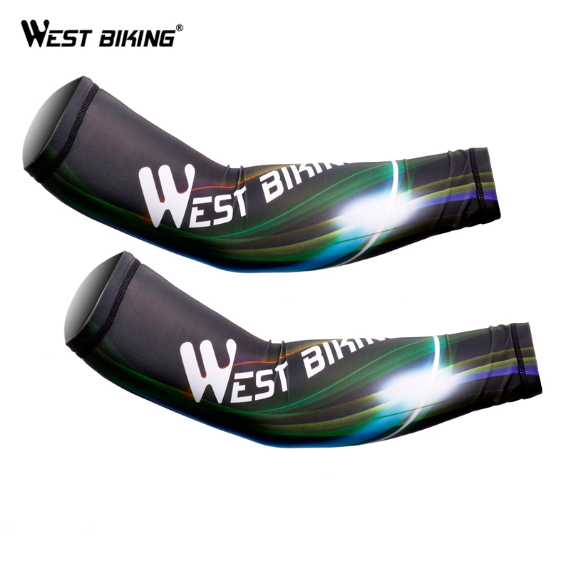 WEST BIKING Bicycle Arm Warmer Cycling Sleeves UV Protection Bikes Warmer Manguito Ciclismo Fake Tattoo Slip Sports Arm Sleeves arsuxeo compression sleeves arm warmer running sleeves cycling sun uv protection for outdoor sport hiking ciclismo 1 pair