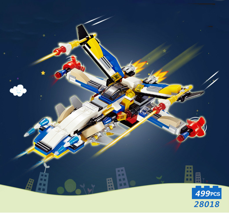 Building Blocks Compatible with Technic J28018 12 IN 1 Models Building Kits Blocks Toys Hobby Hobbies For Chlidren