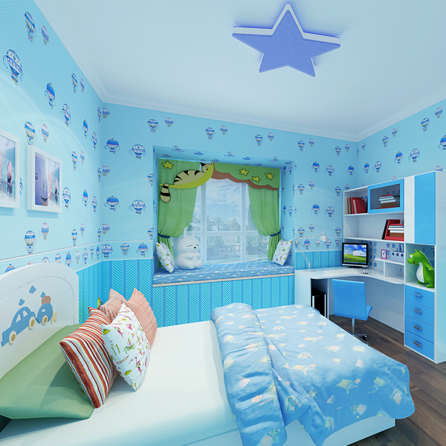 Beibehang Child Hot Air Balloon Bedroom AB With High   End Boys And Girls  Princess Bedroom