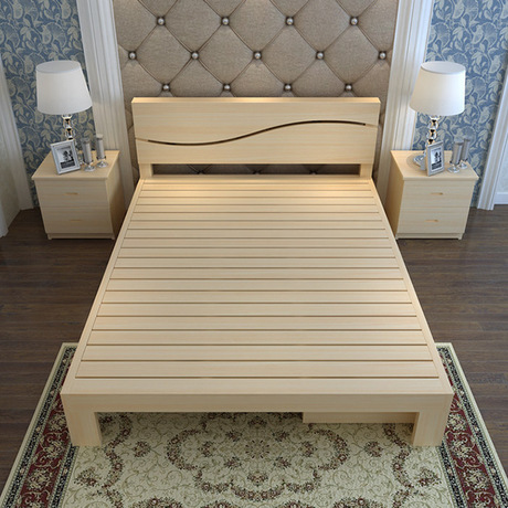 Detail Feedback Questions About Home Bed Bedroom Furniture Home Furniture  Nordic Simple Modern Solid Wood Bed 1.2m/1.5m Double Bed With Drawer Good  Price ...