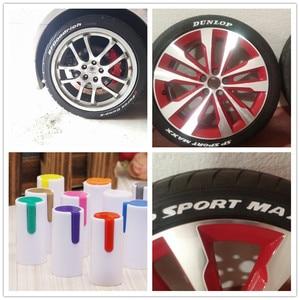 Image 2 - Car shape colorful waterproof pen car tire tire tread metal permanent paint mark graffiti oily marker