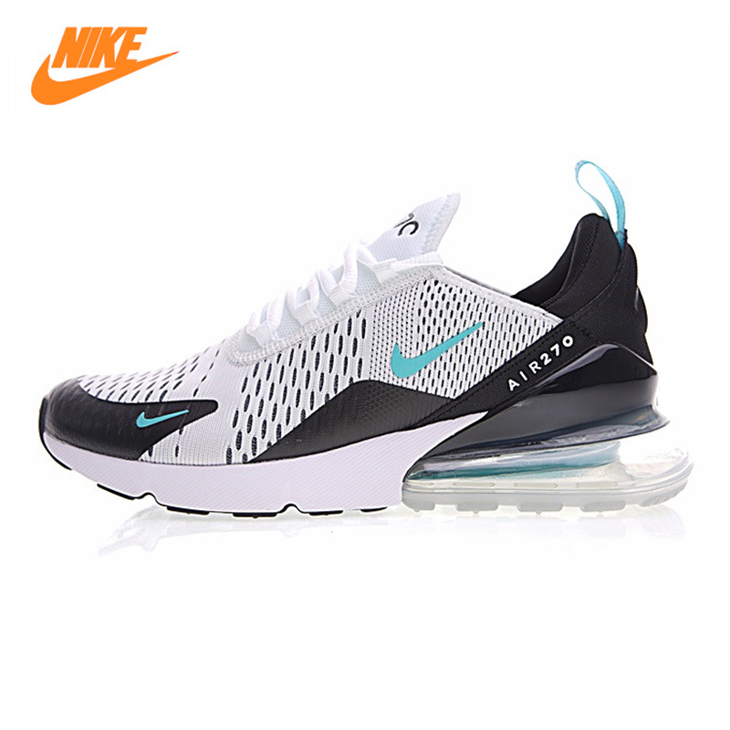 Nike Air Max 270 Men Running Shoes,Outdoor Sneakers Shoes,White, Breathable Wear-resistant Non-slip Shock Absorption AH8050 001