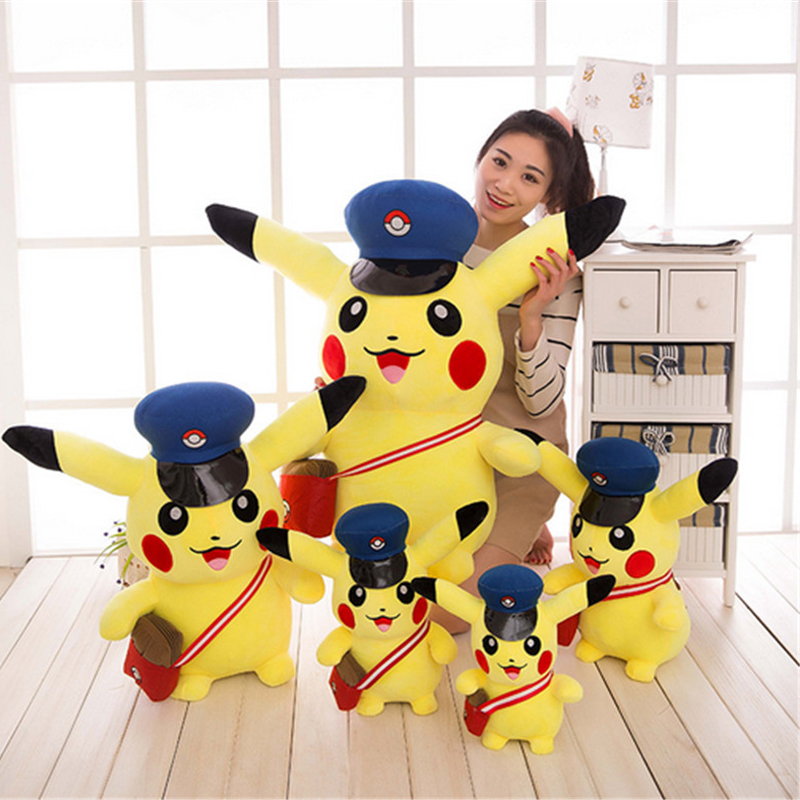 Fancytrader New Pop Pikachu Plush Toy Big Fat Stuffed  Pikachu Doll 80cm Best Gift for Kids Birthday