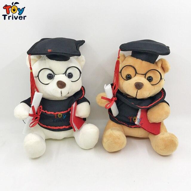 Boneka Wisuda Cokelat Putih Teddy Beruang Mainan Dokter Dr Beruang