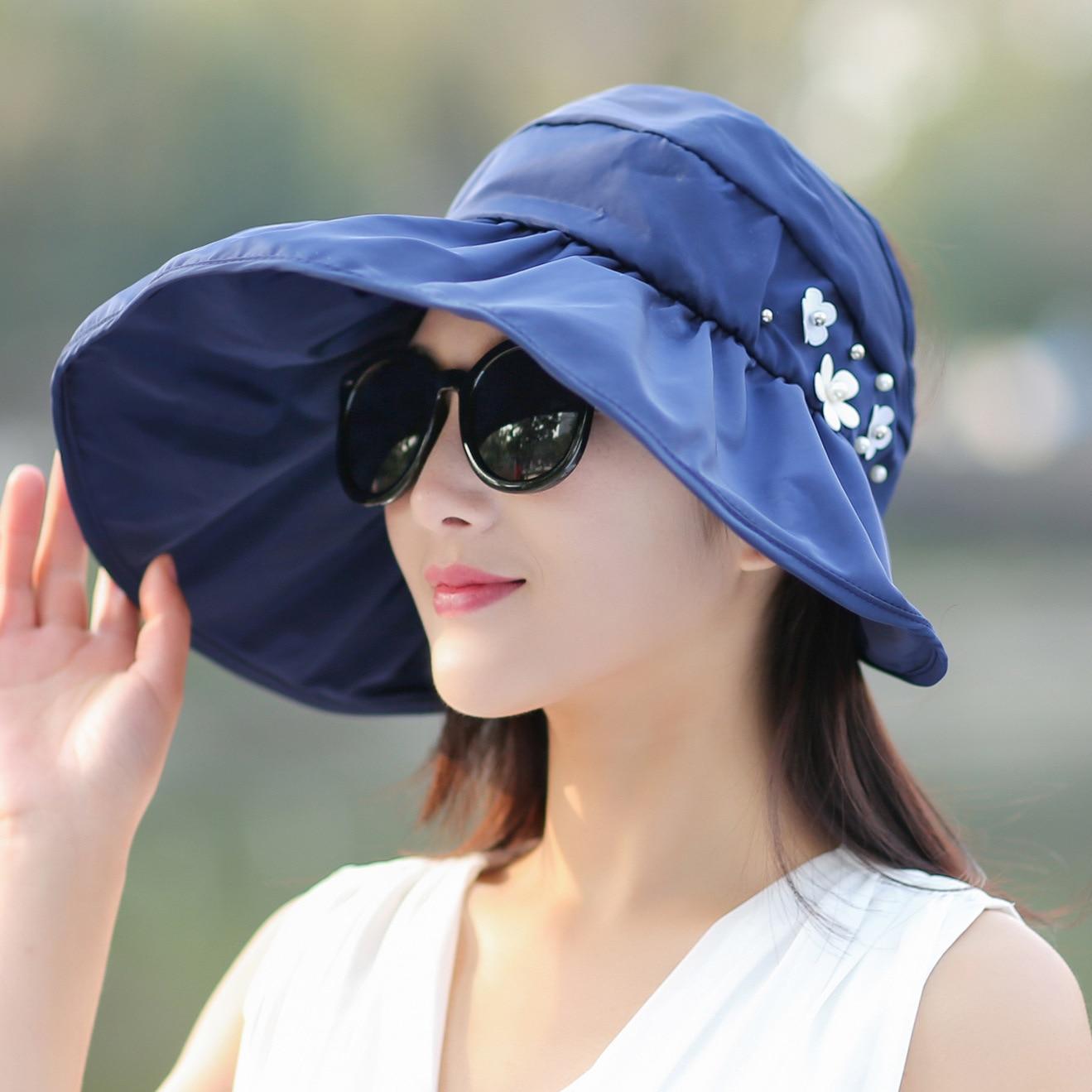 92f6e14f343 Sun Hats sun visor hat Sun Hats for women with big heads beach hat summer  UV protection