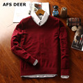 2016 new  causal  solid  men male  sweater Brands knitting sweater Men's Pullover Wool Sweater O-Neck Cotton  Jumpers 8 colors