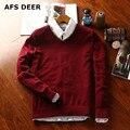 2016 новый причинно твердые мужчины мужской свитер Бренды вязание свитер мужской Пуловер Шерстяной Свитер О-Образным Вырезом Хлопок Свитера 8 цветов
