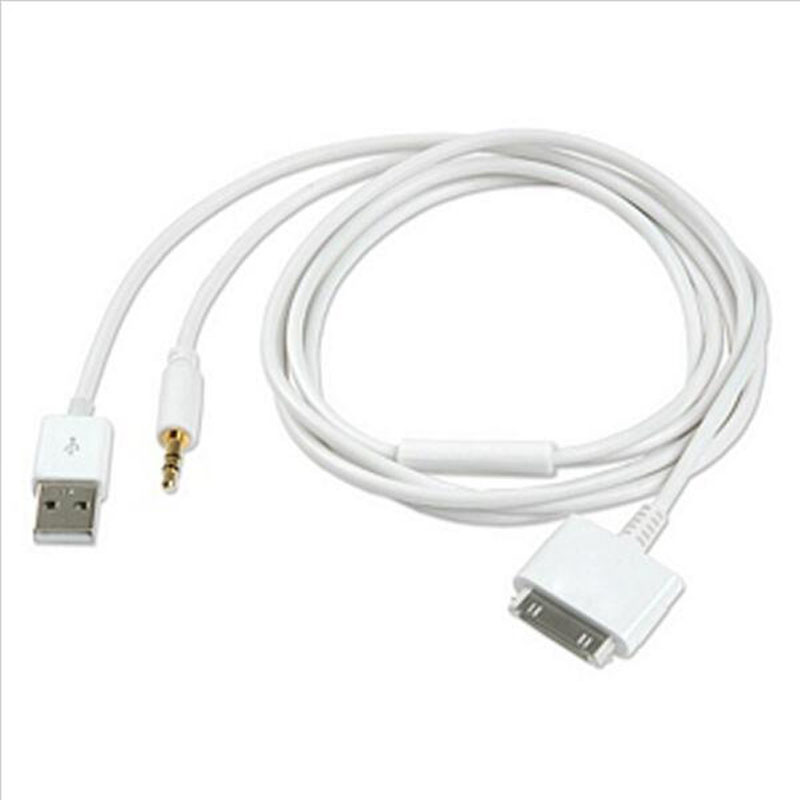 In  Car Charger And Aux Audio Cable Iphone