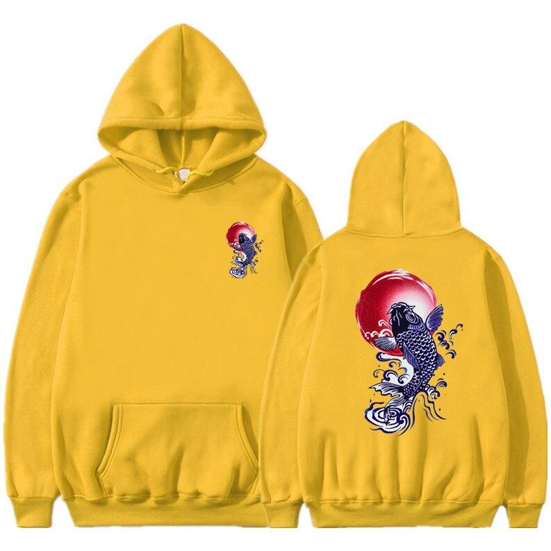 Newest Japanese Funny Cat Wave Printed Fleece Hoodies 19 Winter Japan Style Hip Hop Casual Sweatshirts KODAK Streetwear 15