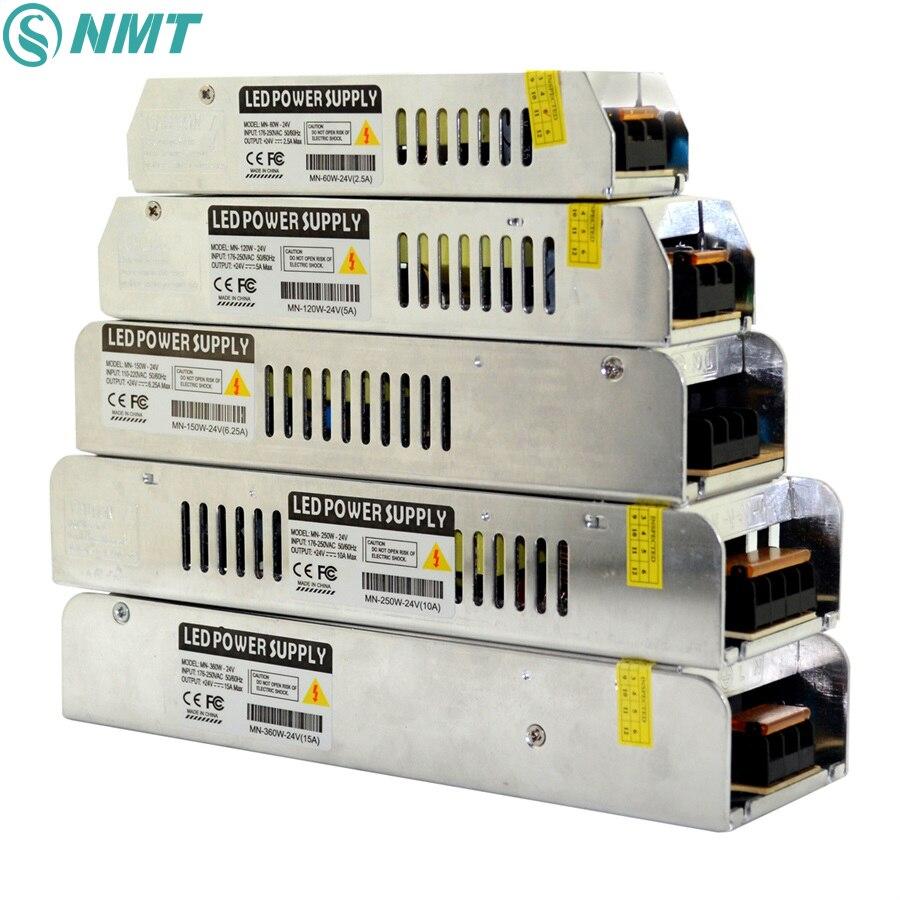 LED di Alimentazione DC12V 24 v 60 w 120 w 150 w 200 w 250 w 360 w Ha Condotto il Driver AC190-240V Trasformatori di Illuminazione per la Luce di Striscia del LED