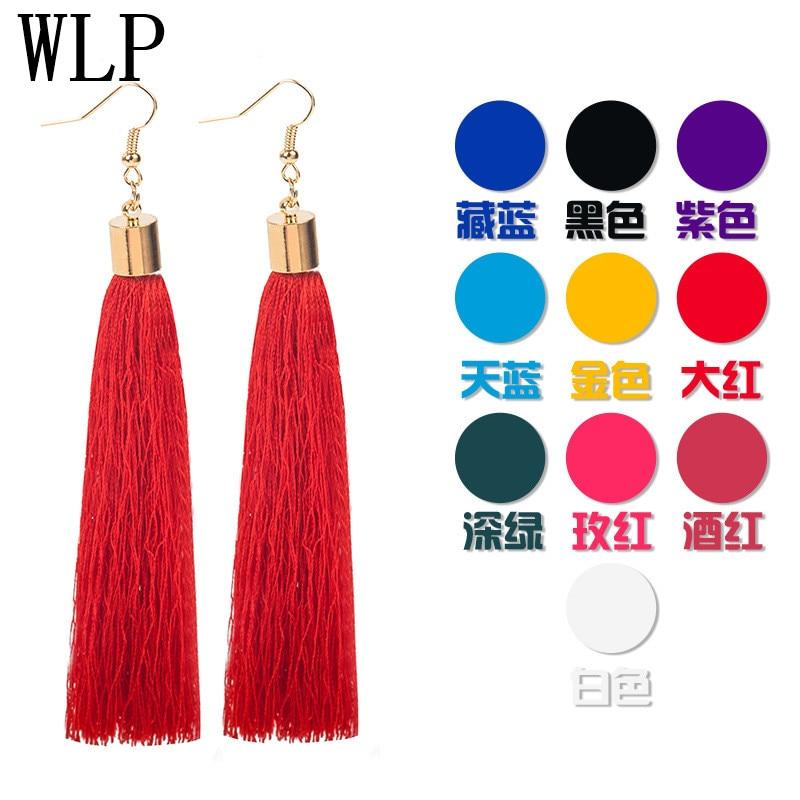 WLP jewelry Hot Fashion Vintage Earrings For Women Jewelry Bohemia Earrings Ancient Long Tassel Drop Earrings