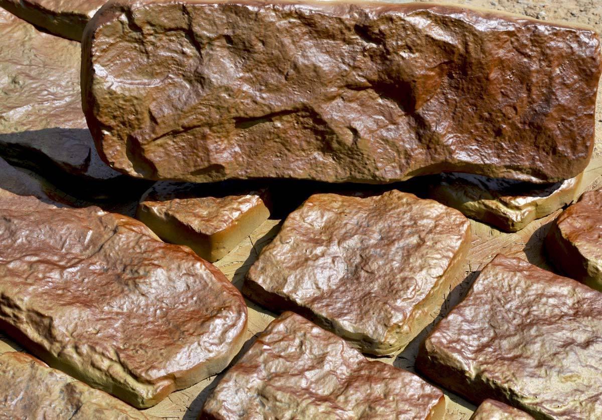 Garden wall ornaments -  14 Bricks Set Concrete Plastic Mold For Garden Wall Decoration Diy Texture Stone Maker Stepping
